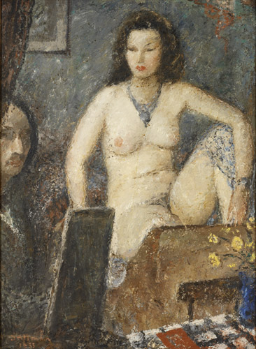 In the Studio, Nude and the Artist